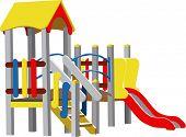Children Playground (Colour Vector illustration)