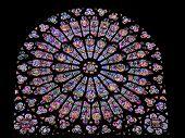 France Paris Rose Window Of Notre Dame