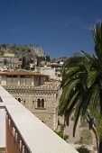 Taormina Sicily Italy Architecture And View poster