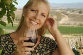 Beautiful Woman Wine Tasting