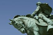 A detail of the Ulysses S. Grant Memorial - the largest equestrian statue in the United States.