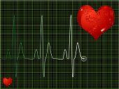 Herzschlag grün
