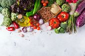 Assortment Of Fresh Organic Farmer Market Vegetables poster