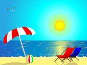 Vector - Beach scene