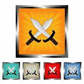 Square swords burst buttons