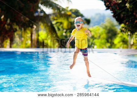 Child In Swimming Pool Summer
