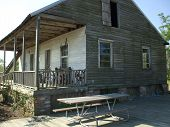 image of acadian  - This is an Acadian style home like those used by Cajuns in earlier years - JPG