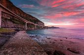 Sea Cliff Bridge Is Built Out From The Cliffs And Spans A Section Of The Illawarra Coastline After T poster