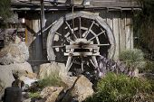 Old building and watermill in Tucson Arizona