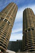 Os edifícios arranha-céus em Chicago