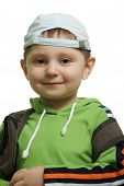 Boy With Backpack poster