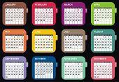 VECTOR - Calendar Design 2012