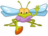 Cartoon Character Fly Isolated on White Background. Vector.