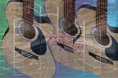 Guitar And Music Abstract
