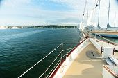 View from a Sailboat on the water