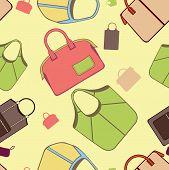 Bags seamless pattern