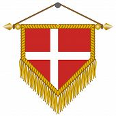 vector pennant with the flag of Denmark