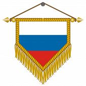vector pennant with the flag of Russia