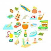 Adventure Icons Set. Cartoon Set Of 25 Adventure Icons For Web Isolated On White Background poster