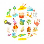 Adventure Time Icons Set. Cartoon Set Of 25 Adventure Time Icons For Web Isolated On White Backgroun poster