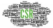 Csr Corporate Social Responsibility Word Cloud Illustration poster
