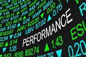 Performance Business Revenue Earnings Stock Market 3d Illustration poster