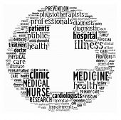 Health-care, word collage on white background