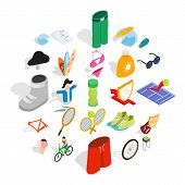 Recreation Park Icons Set. Isometric Set Of 25 Recreation Park Vector Icons For Web Isolated On Whit poster