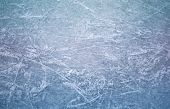 Ice In Skate Scratches, Close Up View poster