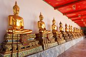 Gold Statues Of The Buddha