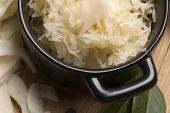 Frisch eingelegter Kohl - traditionelle polnische Sauerkraut