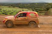 Portalegre, Portugal - November 3: Reinaldo Varela Drives A Mitsubishi Pajero In Baja 500, Integrate