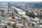 stock photo of frankfurt am main  - View from the Maintower in Frankfurt am Main - JPG