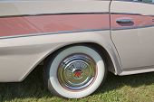 1959 Pink Rambler White Wall Tire