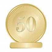 Golden Fifty Medallion