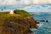 Unawatuna Headland Stupa Cliffs Ocean