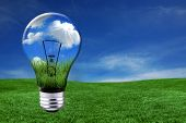 Green Energy Solutions With Light Bulb