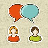 Social Media Chat Icons Set