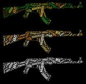 stock photo of ak47  - Ak47 Rifle info - JPG