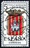 Postage stamp Spain 1962 Arms of Castellon de la Plana