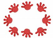 Plastic Toy Hands