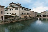 Ancient Roman thermal  baths in Tuscan town of Bagno Vignoni