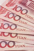 Chinese currency - 100 yuan background