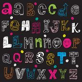 childlike doodle ABC