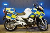 British Police Motorcycle