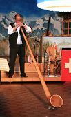 Blowing The Alphorn