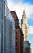 NEW YORK CITY, NY, USA - DEC 30: Chrysler Building in the day with street on December 30, 2011, New