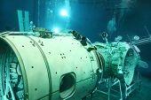 STAR TOWN - FEBRUARY 4: Underwater space simulator in Cosmonaut Training Center named of Gagarin on