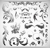 pic of art gothic  - Vector Ornament Flowers Vintage Design Elements - JPG
