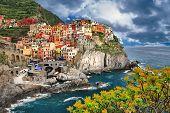 scenic Italy - pictorial Monarolla village, Cinque terre